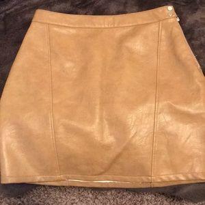 Zara tan leather skirt